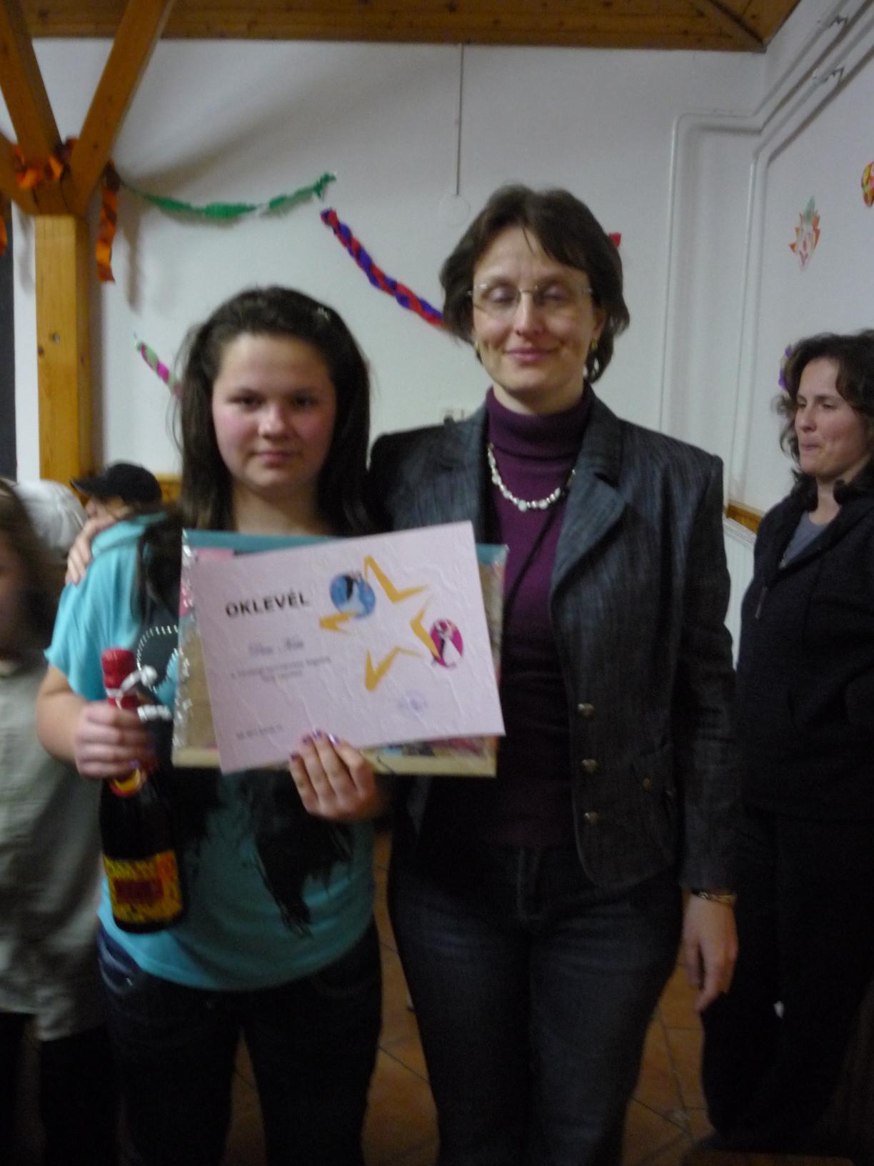Táncverseny lány nyertese: Diósi Kitti